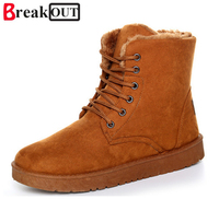 Promotion Men Winter Snow Boots Warm Platform Boots For Male Fashion Suede Boots Casual Men Shoes