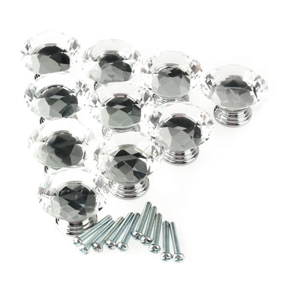 10Pc 40mm Crystal Glass Diamond Shape Cabinet Knob Drawer Pull Handle Kitchen арминэ ваниковна акопян эдельвейс