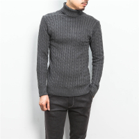 2016 New Winter The New Men S Fashion Boutique Pure Color Turtleneck Sweater Men S High