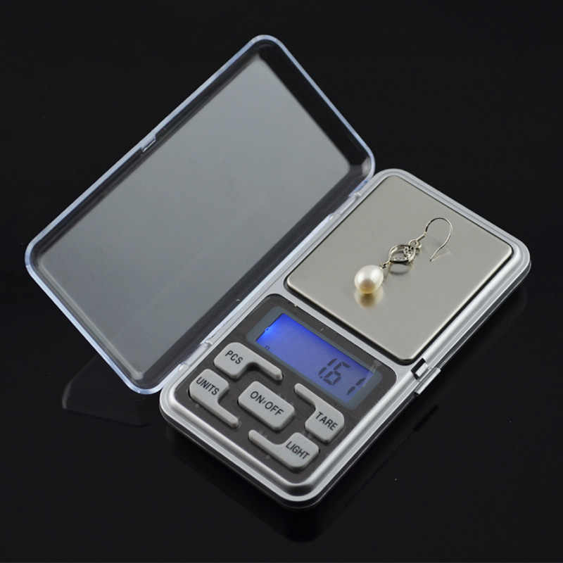 New 200g x 0.01g Mini Precision Digital Scale Portable LCD Electronic Jewelry Scales Diamond Pocket Scales Weight