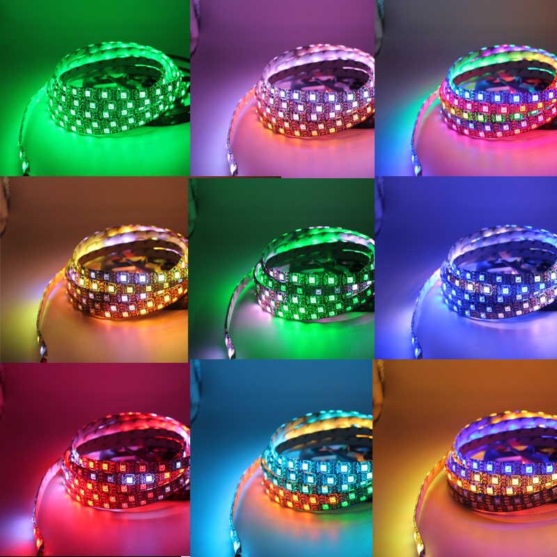 Taśma pikselowa led DC 5V WS2812B WS2812 IC indywidualnie adresowalna 5V rgb pełny kolor 30/60/144 leds/m wodoodporna taśma ciąg