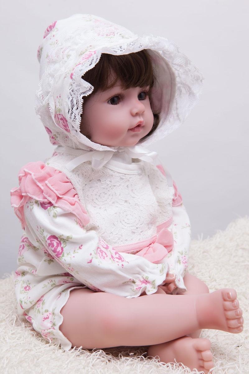 55cm silikonske preporođene dijete lutka igračke Lifelike vinil - Lutke i pribor - Foto 3