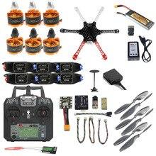P ro DIY F450 F550จมูกเต็มชุด2.4กรัม10CH RC H Exacopter q uadcopter R Adio L InkมินิPIX M8N GPS PIXHAWKระดับความสูงถือFPVอัพเกรด