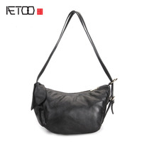 AETOO Leather handbags lychee pattern casual shoulder bag head layer of leather shoulder bag new multi-purpose leisure bag