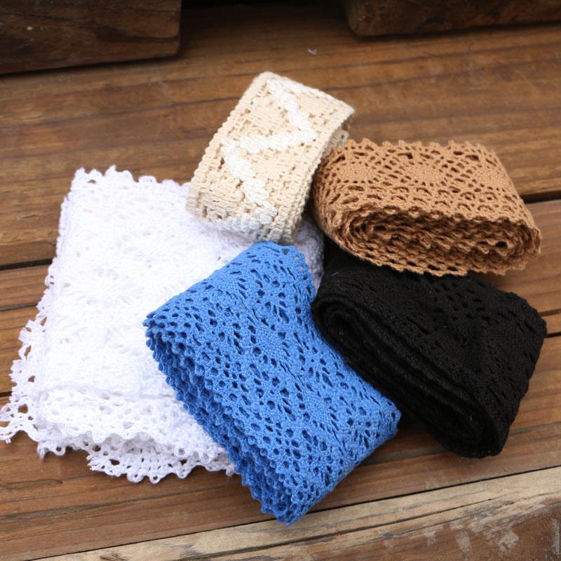 4cm-11cm High Quality Pure Cotton Edge Ribbon Cotton Lace Sewing Home Accessories DIY