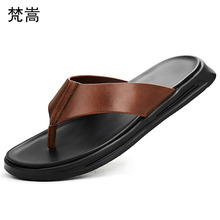 Outdoor non-slippery slippers beach shoes men fender summer men genuine leather slippers flip flops anti-skid sandals Sneakers mens anti skid sandals fender summer men genuine leather slippers cowhide sneakers men flip flops casual shoes beach outdoor