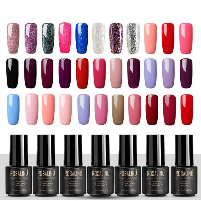 ROSALIND Gel Varnish Nail Polish UV Hybrid Nail Art Manicure Nails Extensions 7ML Vernis Semi Permanent Base Top gel nail polish