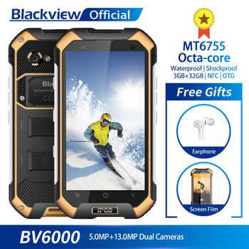 Blackview BV6000 IP68 Waterproof Smartphone 3GB RAM 32GB ROM MT6755 Octa-core 13.0MP Camera 4.7inch Mobile Phone 4500mAh Battery - SALE ITEM Cellphones & Telecommunications