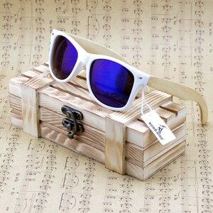 Image 2 - BOBO BIRD Bamboo Sunglasses Women Polarized Sun Glasses Man Mirror gafas de sol with Wooden Gift Box CG007 Dropshipping OEM