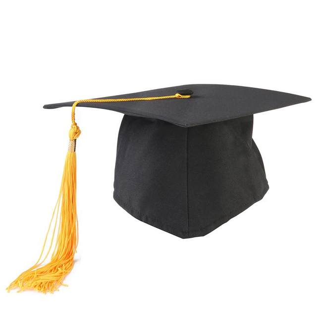 5e3760da631 Adjustable Adults Student Mortar Board Graduation Ceremony Commencement Hat  Cap Fancy Photo Dress Accessory Bachelor Hat