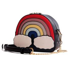 Luxury Design Candy Color Girls Purses Novelty Women Shoulder Bag Rainbow  Patchwork Clutch Personalized Messenger Bag f6cbf5933df3