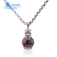 Ruby Jewelry 925 Sterling Silver Necklace Pendant Fine Fits Mix Necklaces PET814