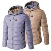 Plus Size Winter Men Coats Jacket Hooded Thick Parkas Jackets Slim Fit Casual Parka Overcoat Camisa Social Masculina 1154