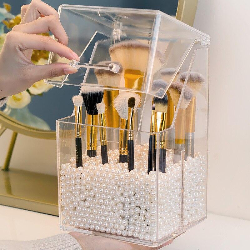 Мульти стиль PS акриловый Органайзер для Макияжа Косметический Держатель для макияжа инструменты для хранения коробочка для жемчуга принадлежность щетки Органайзер коробка с крышкой|Коробки и ящики для хранения|   | АлиЭкспресс
