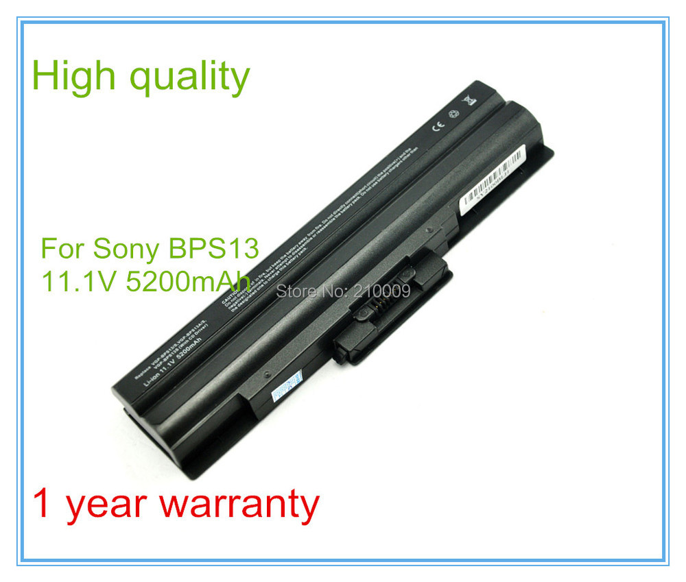 5200mAh שחור סוללה עבור BPS13/B VGP VGP-BPS13/B BPS13/Q VGP-BPS13B/B VGP-BPS13A/B
