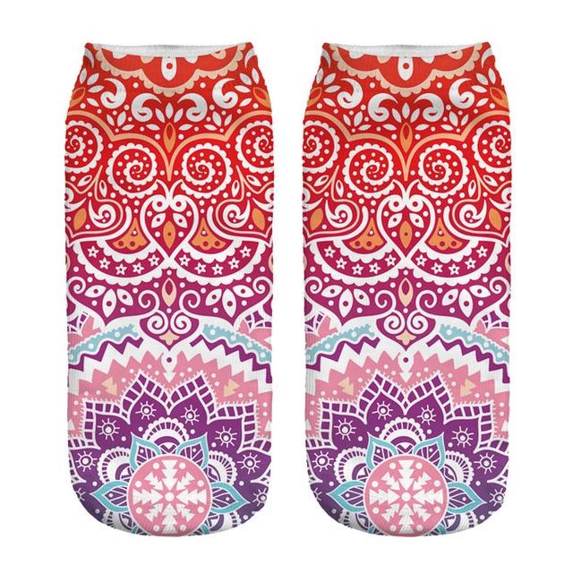 Women's Mandala Print Socks 2
