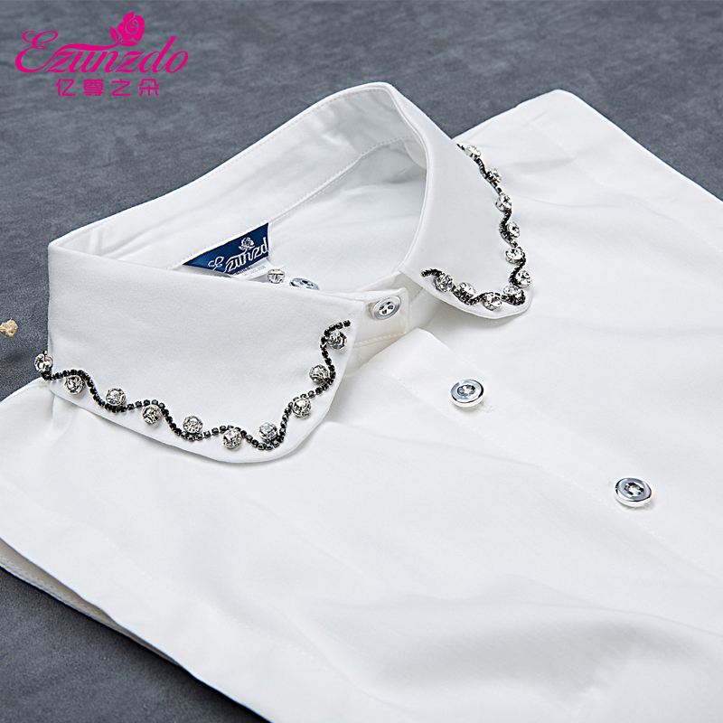 boutique nail drill ultra-refined heavy cotton false Vintage Fake Shirt Collar Decorative Necklace Choker Detachable Collars