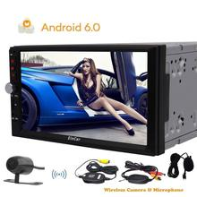 free camera +2 din android 6.0 2din for universal Car Radio Car Player GPS Navigation auto In dash Car PC Stereo video quad core