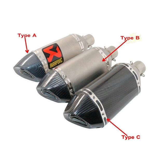 aliexpress buy motorcycle exhaust muffler universal marmitta scooter akrapovic pipes pot