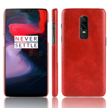 30PCS Retro Ultra Thin Leather Skin Case For Oneplus 6 Business Style Case For Oneplus 6 Back Protector
