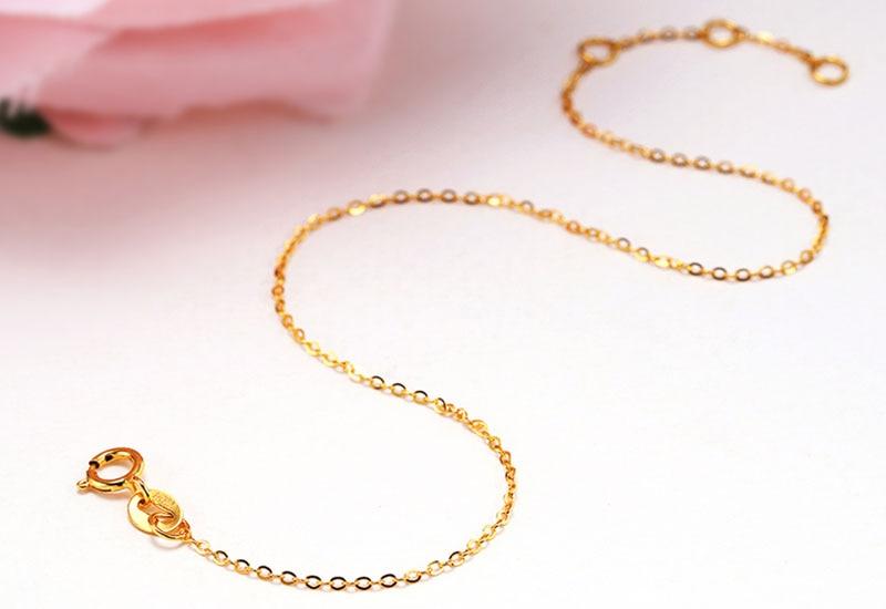 18k Au750 gold chain bracelet (10)