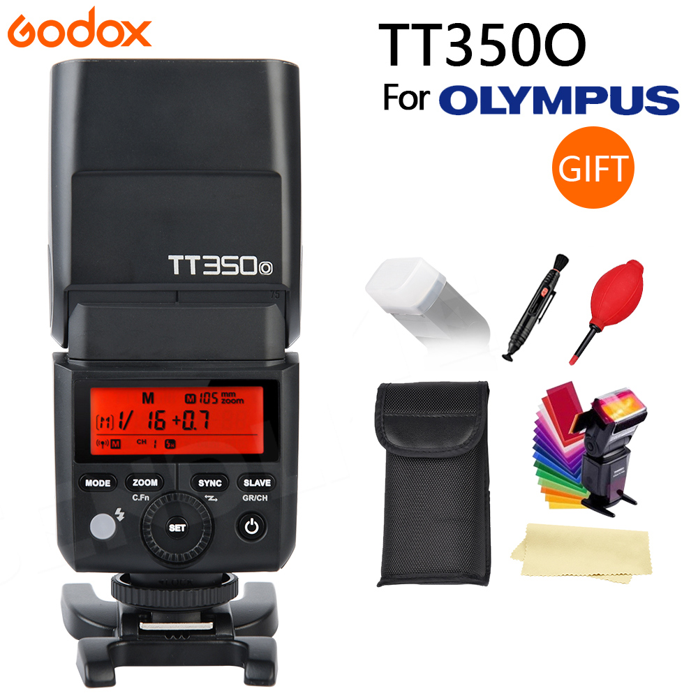 GODOX TT350 O On Camera Flash Speedlite for Olympus Panasonic 2 4G HSS 1 8000s TTL