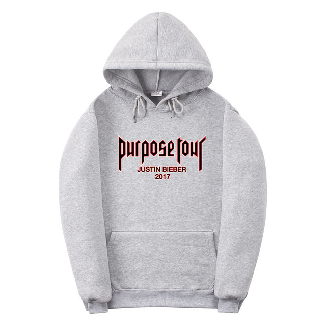 finest selection c4f57 bb200 2017 Justin Bieber hoodie shown in Fig hoodies off white supreme hoodie  sweatshirt men High quality fashion Purpose Tour