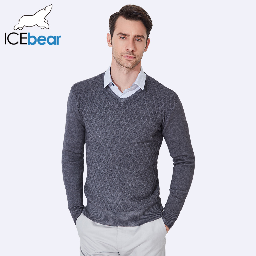 ICEbear 2017 Men Design Sweaters High Quality Plaid Knitted New ...