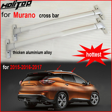Новое поступление крест-бар багаж горизонтальная Крыша Стойка для Nissan Murano 2015-2018, утолщенный алюминиевый сплав, можно носить вес 130 кг