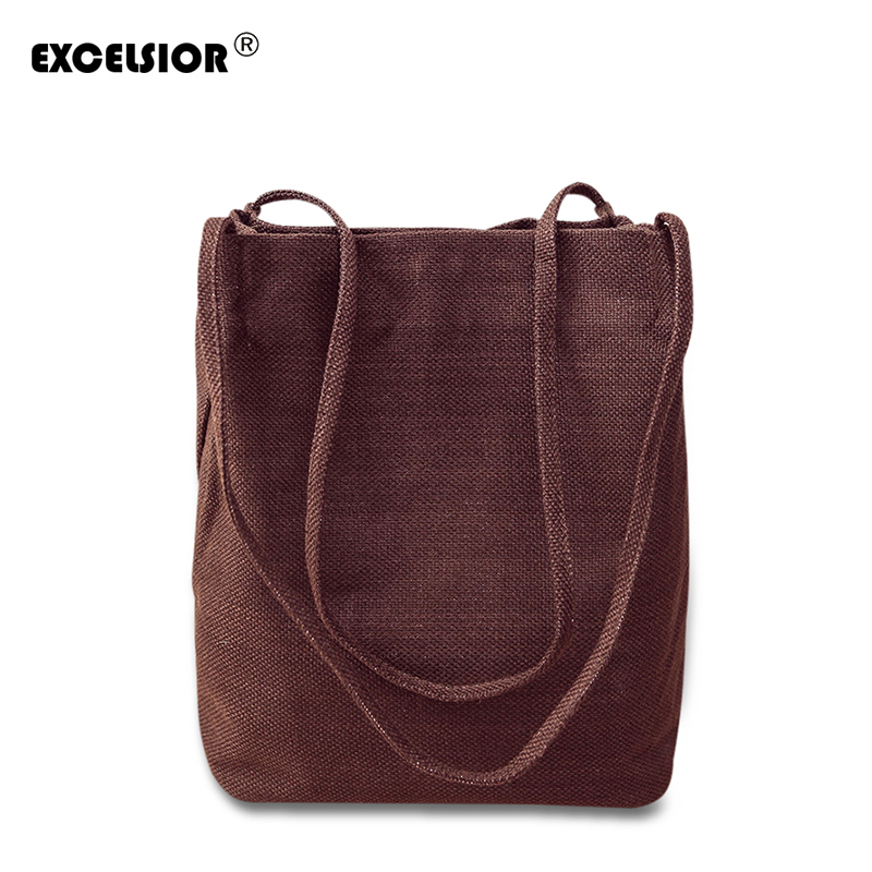 EXCELSIOR New Women's Bags Casual Handbags for Female Canvas Messenger Ladies Handbag High Quality Linen Bags Bolsa for Female