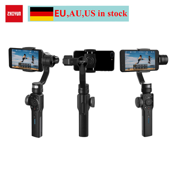(EU,AU,US Location) Zhiyun Smooth 4 3-Axis Handheld Gimbal Stabilizer w/ Mic for iPhone X 8 7 Plus 6 Samsung S8+ S8 S7