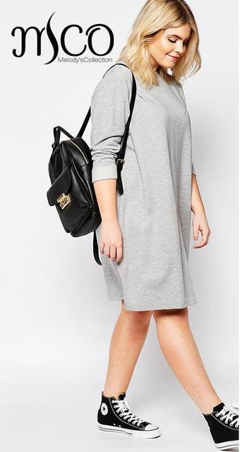 4ae06676e8a 2016 Brand Winter Autumn Oversize Sweat Dress Long Sleeve Loose Midi Women  Tunic Dresses Plus Size Vestido 6XL 7XL High Quality