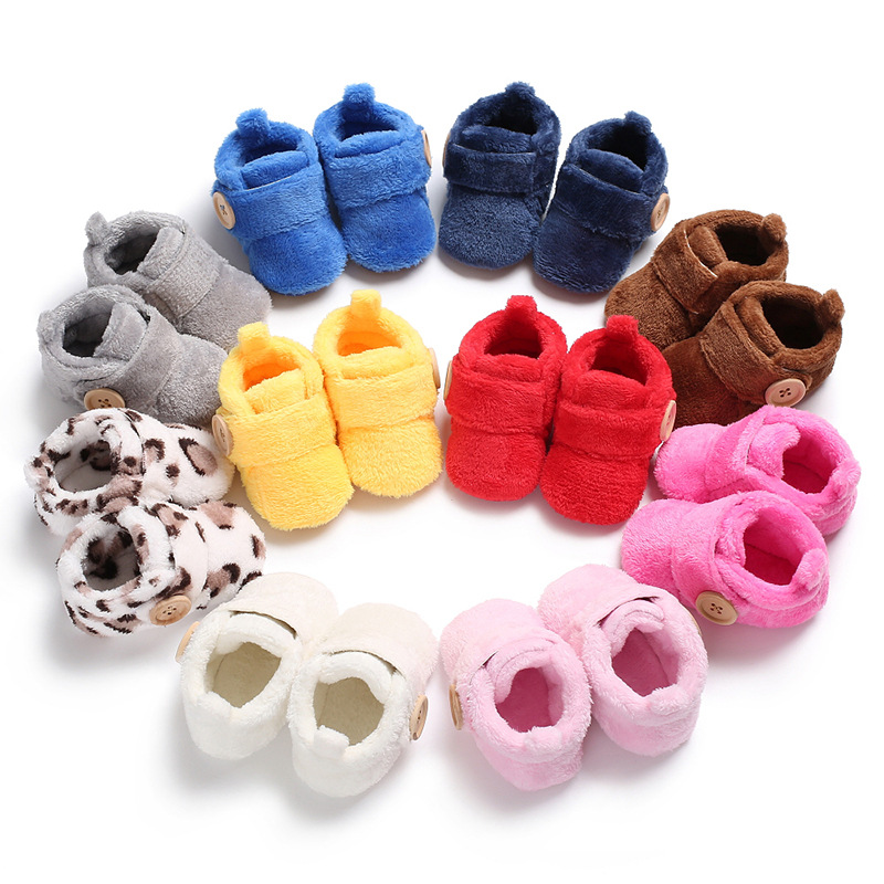 New Born Baby Shoes For Boy And Girls Newborn Bootie Winter Warm Infant Toddler Crib Zapatos Classic Floor First Walkers TS134