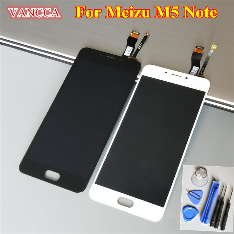 Best Quality New LCD Display + Digitizer Touch Screen Assembly For Meizu M5 Note Smart Cellphone 5.5 Black White Color