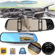 2.8 inch Full HD 1080P 2.8  Video Recorder Dash Cam Rearview Mirror Car Camera  Blue Review Mirror Digital Car DVR