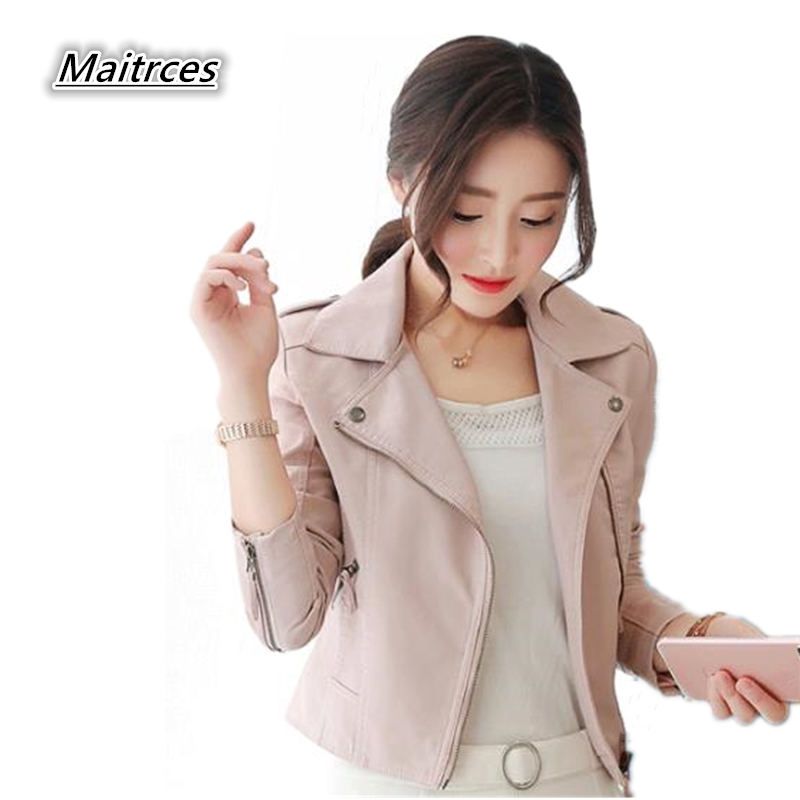 Jaqueta De Couro Sale   Suede   Faux   Leather   Jacket Women Spring And Autumn New Brand Motorcycle Coat Zipper Outerwear 2018 Jk007
