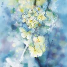 Floral fotografía telón de fondo vintage acuarela flores photobooth fondo para recién nacido Niño Studio foto backdrops D-9885