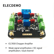 ICL7650 Module Weak Signal Amplification DC Signal Amplification Chopper Amplifier Dual 1pc lm358 100 gain signal amplification module operational amplifier dc5 12v hot worlwide