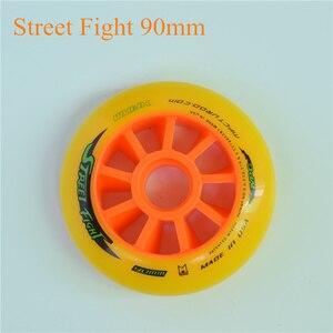 Image 2 - 스트리트 파이트 오렌지 110mm 100mm 90mm 인라인 스피드 스케이트 휠 mpc 아스팔트 그라운드 스트리트 레이싱 마라톤 대회 rodas