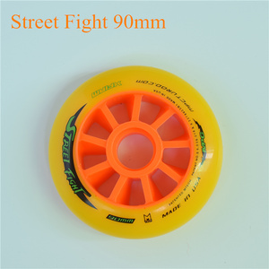 Image 2 - Street Fight Oranje 110mm 100mm 90mm Inline Speed Skates Wiel voor MPC Asfalt Grond Street Racing Marathon concurrentie Rodas