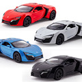1:32 kids toys Fast and Furious 7 Lykan Hypersport Mini Auto metal toy cars model pull back car miniatures gifts for children