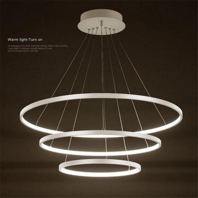 Moderne Acryl Cirkel Hanglampen DIY Wit HangLamp Voor Dinning ...