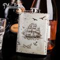 Mealivos moda estilo Náutico Frasco 8 oz 304 # Acero Inoxidable Petaca drinkware Alcohol Licor Whisky Botella de vino regalos olla