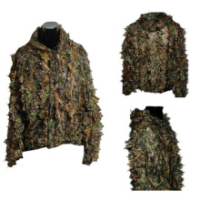 Tactical hunting New 3D maple leaf Bionic Ghillie Camouflage Camo Jungle Birding clothes jacket and pants