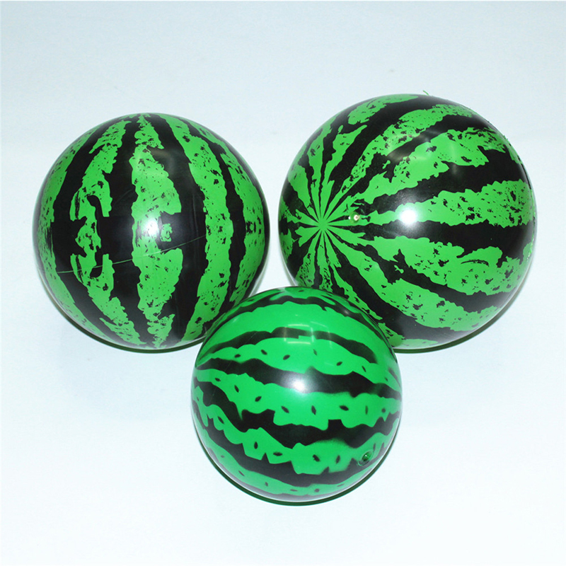 1 Pc Creative Inflatable Ball Simulation Watermelon Rubber Ball Beach Pool Play Early Education Gifts Soft Toys For Children