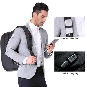 Image 4 - Kingsons 15 인치 노트북 배낭 USB 충전 도난 방지 배낭 남자 여행 배낭 물 혐오 학교 가방 남성 Mochila