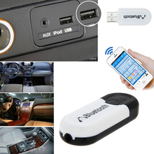 Bluetooth USB Адаптер Dongle A2DP Blutooth Музыка Аудио Приемник Беспроводной Стерео 3.5 мм Разъем для Автомобиля AUX Android/IOS мобильный Телефон