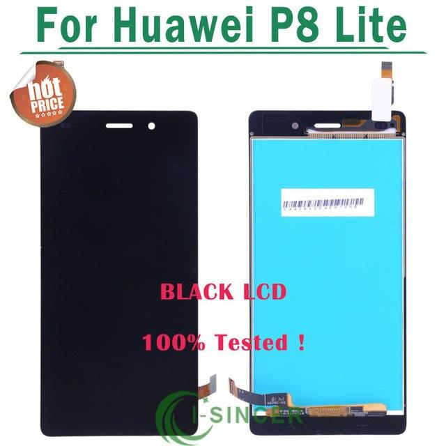 1/pcs de ouro, preto, branco para huawei p8 lite display lcd + digitador da tela de toque de vidro substituição do painel para huawei ascend p8 lite
