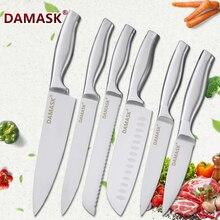 Дамасские наборы шеф-ножей из нержавеющей стали, кухонный нож, нож для приготовления мяса, рыбы, фруктов, нож для очистки овощей, кухонная утварь