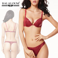 Balaloum Sexy ropa interior serpiente pitón piel gruesa Push Up Bra mujeres tanga String Set VS francés 70BC-85C ropa interior para mujer de lujo